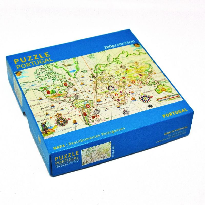 Puzzle Mapa dos Descobrimentos Portugueses