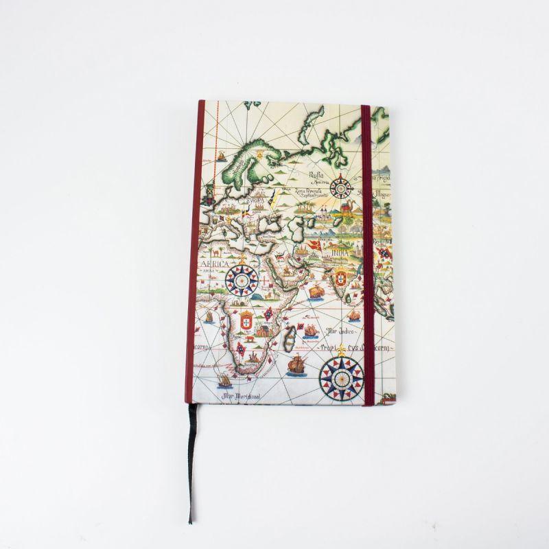 Caderno Mapa dos Descobrimentos marítimos e explorações dos portugueses - séculos XV e XVI