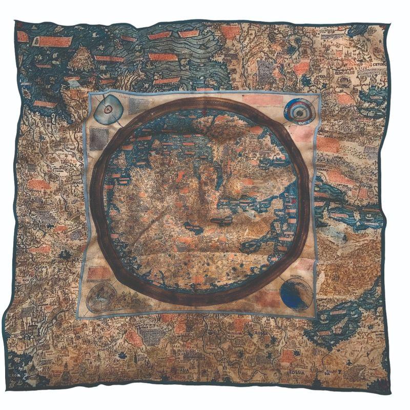 Lenço Planisfério de Fra Mauro (1450 CA.)