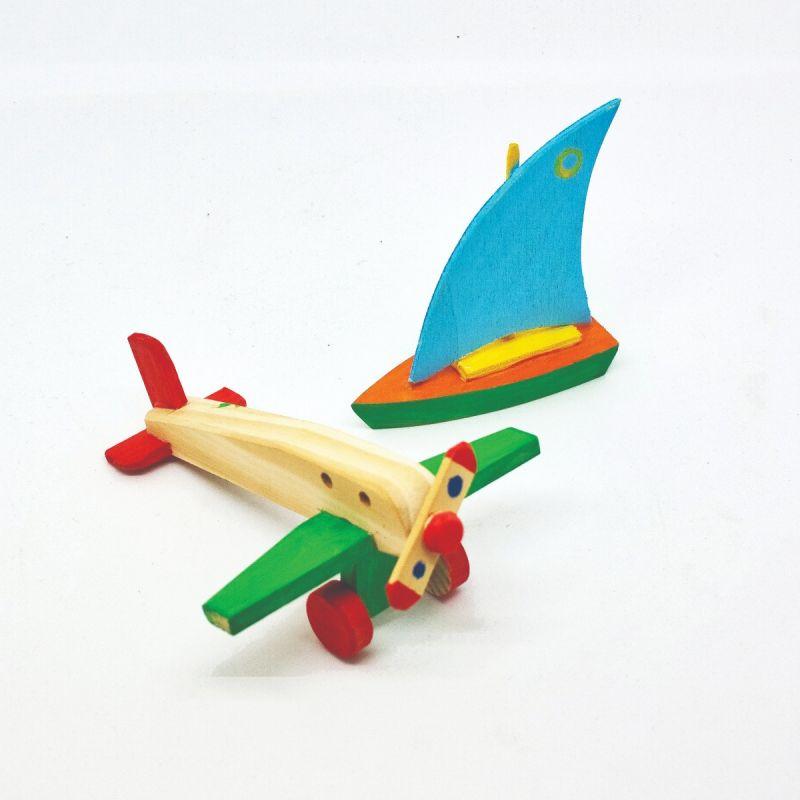 "Kit ""Avião e Barco"" para pintar"