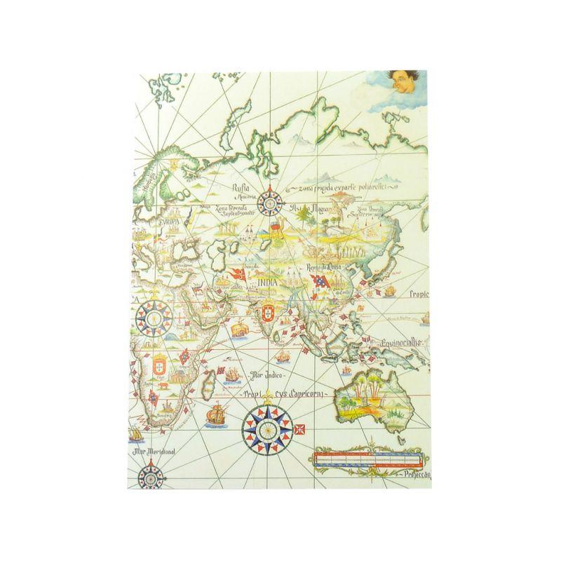 Postal Mapa dos Descobrimentos Portugueses