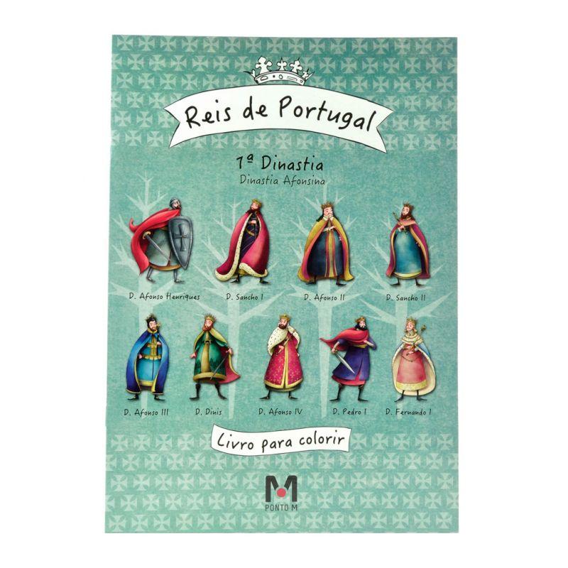 Livro para Colorir Reis de Portugal