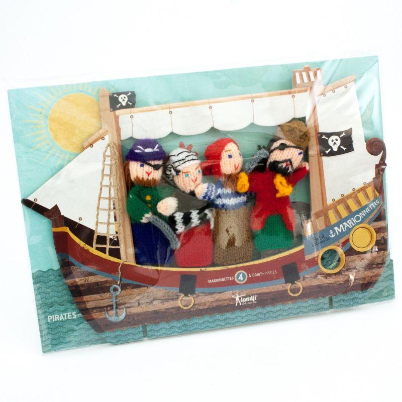 Fantoches de Dedo em lã Piratas