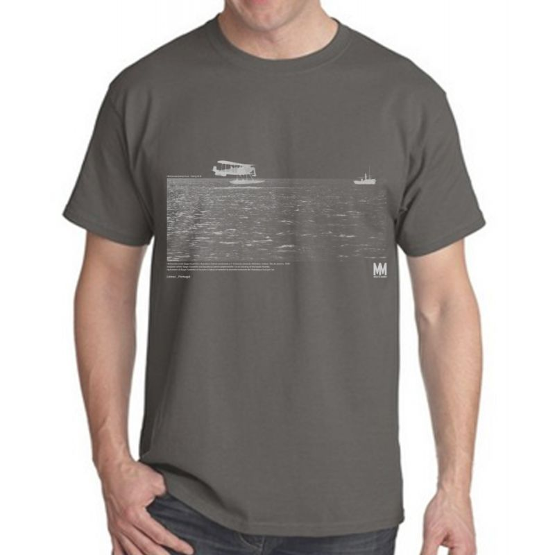 T-shirt Hidroavião Cinza