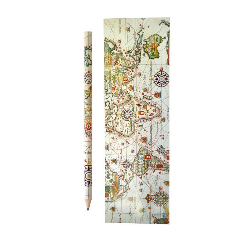 Conjunto lápis e marcador de livros