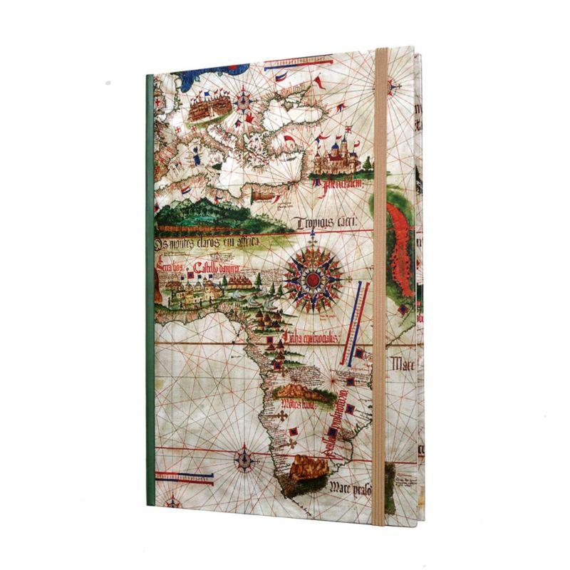 Caderno A5 Planisfério de Cantino