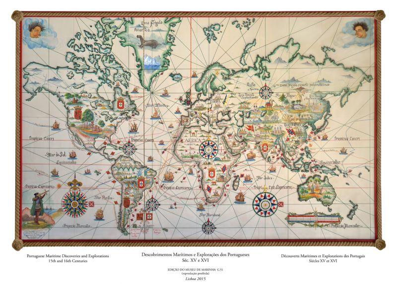 Mapa Dos Descobrimentos Maritimos Portugueses