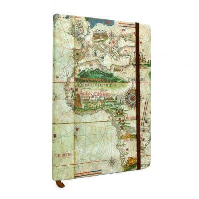 Caderno A5 Planisfério de Cantino (1502)