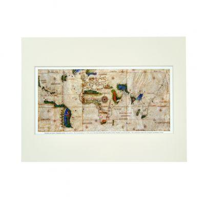 Mapa de Cantino com passe-partout