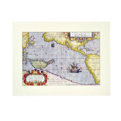 Mapa Maris Pacifici com passe-partout