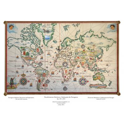 Mapa dos Descobrimentos Marítimos Portugueses